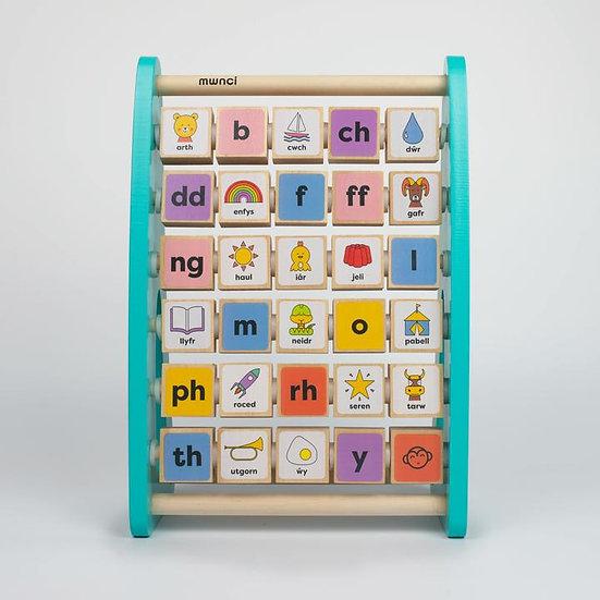 Welsh Alphabet Abacus