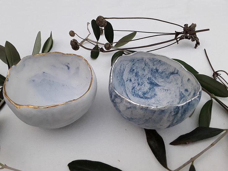 Semi- Porcelain Large Sky Bowl.