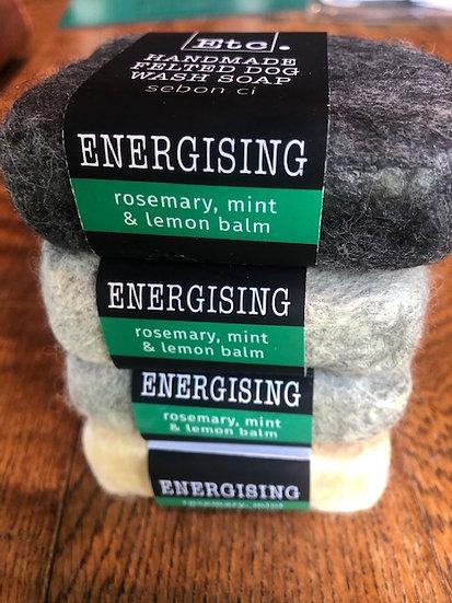 Rosemary, Mint and Lemon  Balm Felted Dog Soap
