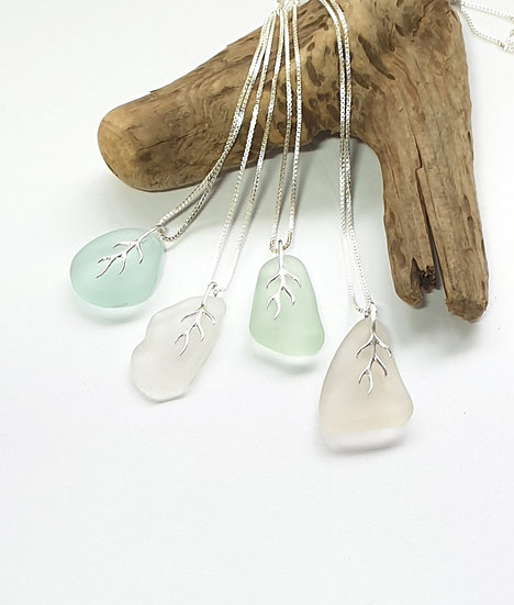 Branching Sea Glass Pendant