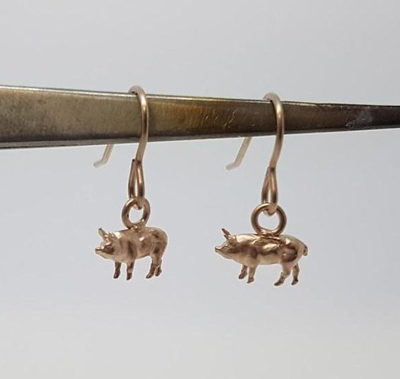 Pig Drop Earrings