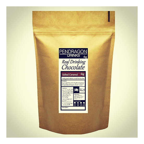1kg Real Drinking Chocolate - Salted Caramel Flavour