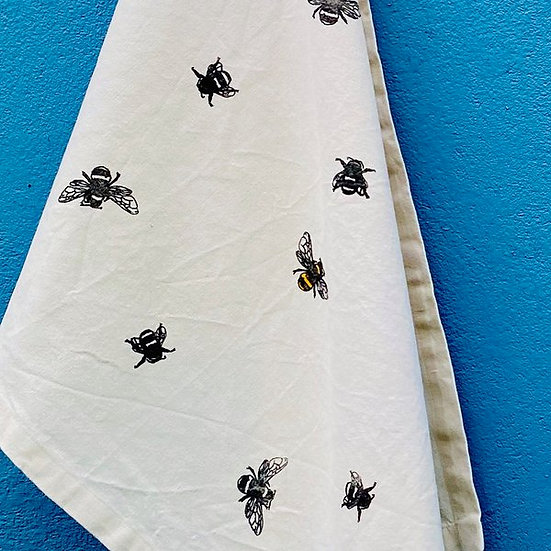 Bee Design Organic Cotton & Bamboo Tea Towel