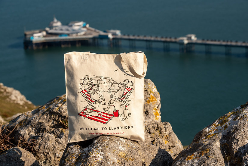 Goats of Llandudno Organic Tote Bag.
