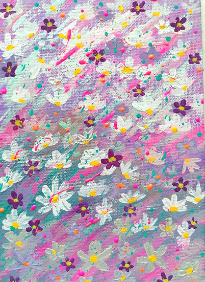 'Colourfulness' Original Acrylic Painting-Framed.