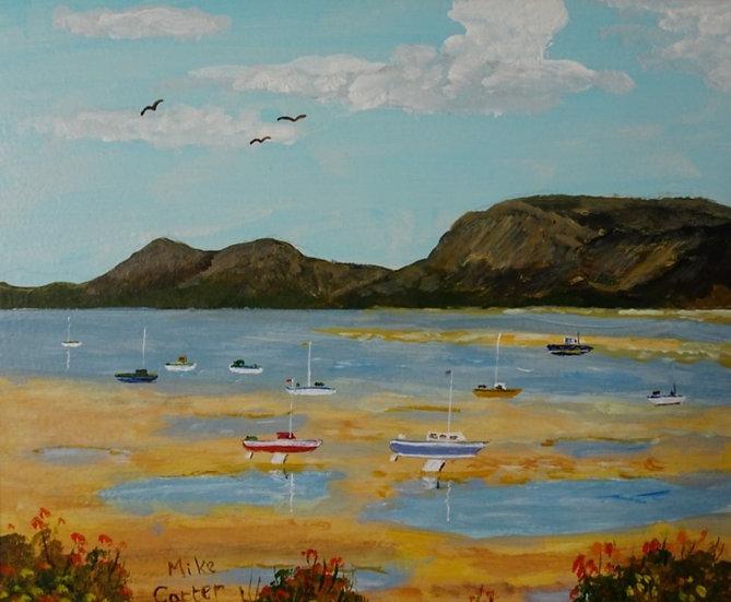 'Menai Strait, Anglesey', Original Oil Painting.