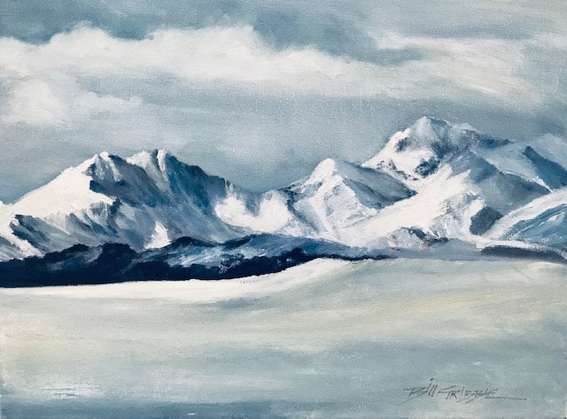 'Winter Snowdonia' Original Oil Painting