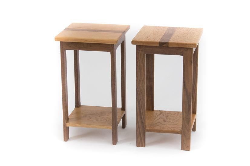 Solik Oak and American Wallnut Harker Side Table