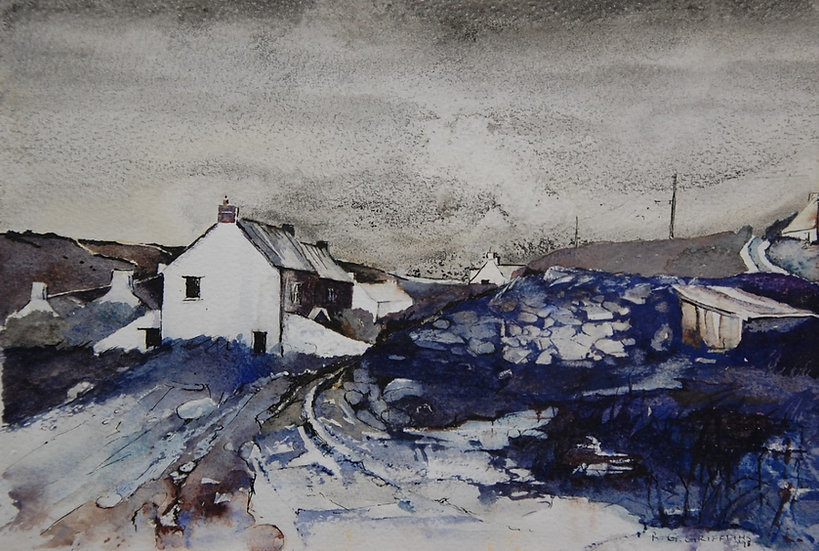 'Abereiddy' Limited Edition Mounted Print