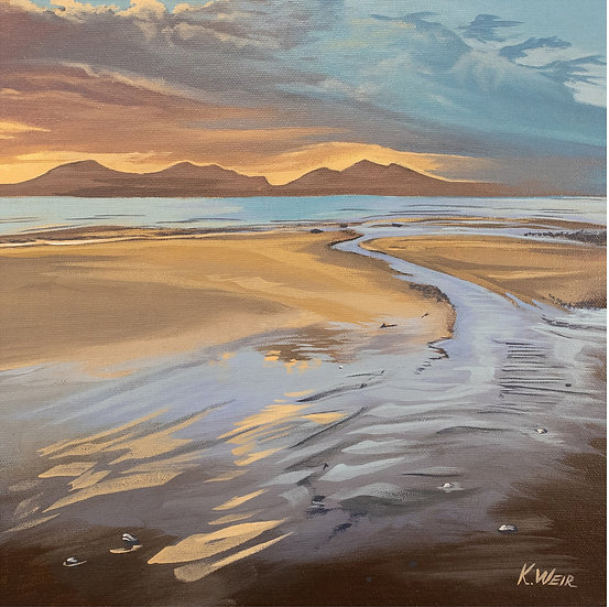 'Early Winter Sun on Newborough Beach', Anglesey Print