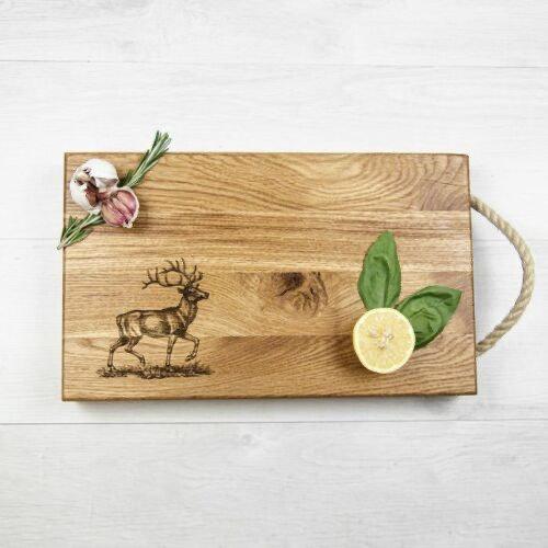 Solid Oak Stag Chopping Board