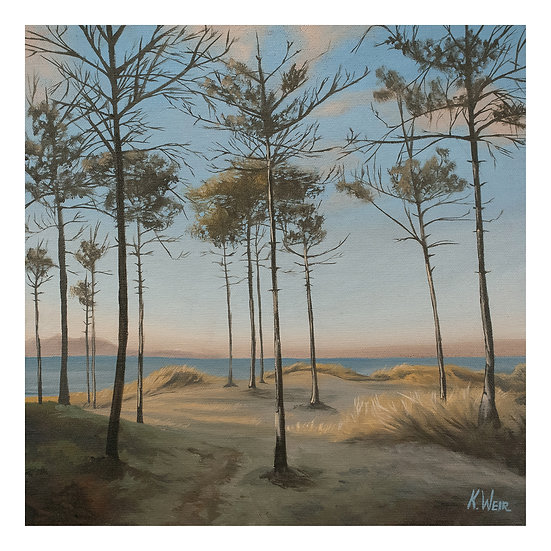 'A View from the Dunes', Newborough Beach, Anglesey Print