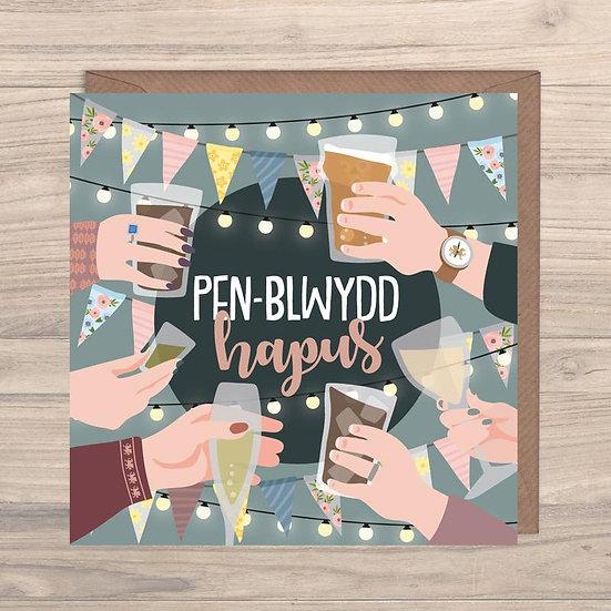 Penblwydd Hapus - Birthday Drinks Card