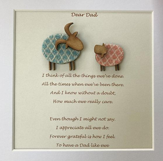 Dear Dad Framed Poem