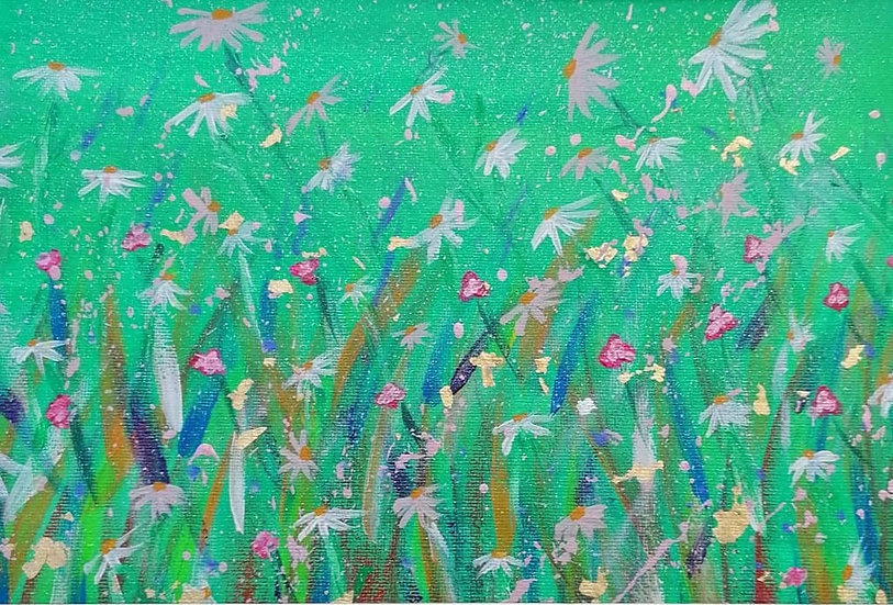 'For the Love of Daisies' Original Acrylic Painting