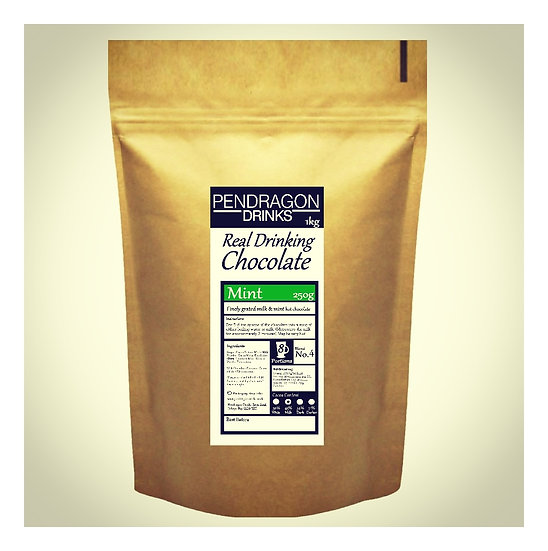 1kg Real Drinking Chocolate - Mint Flavour