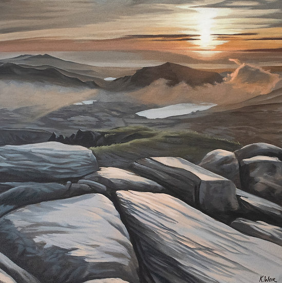 'A View From The Top, Snowdon Summit' Original Painting