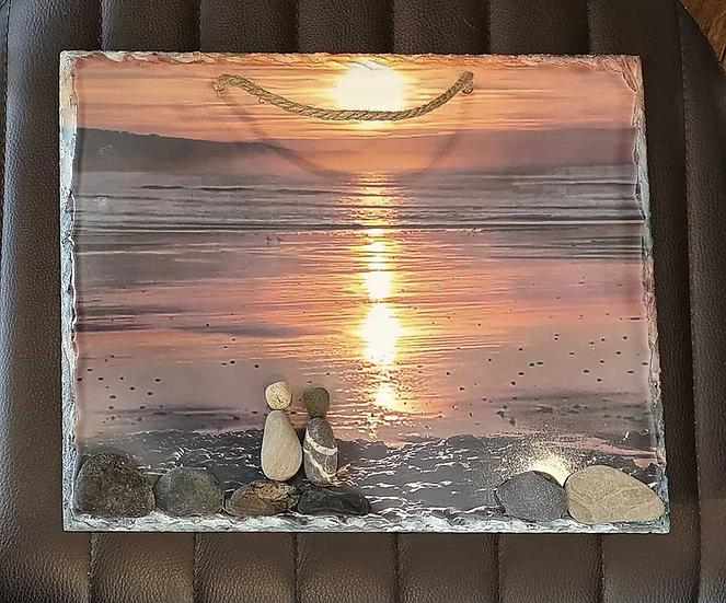 Sunrise Heaven Photo Slate Art