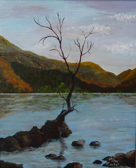 'The Lonely Tree, Llyn Padarn' Original Oil Painting