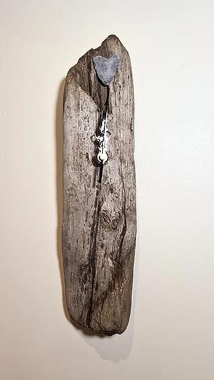 Textured Driftwood Clock