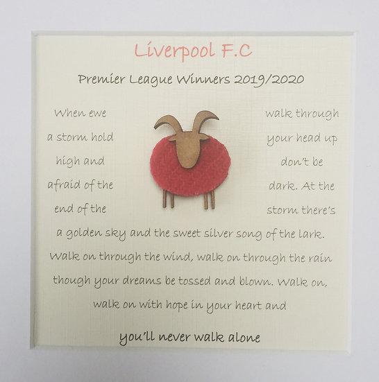 Liverpool - Ewe'll Never Walk Alone Framed Art