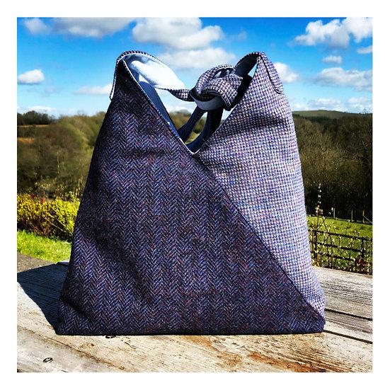 Origami Bag in Purple tweeds