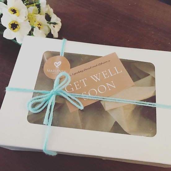 Welsh Cakes 'Get Well Soon' Gift Box (contains 20 welsh cakes)
