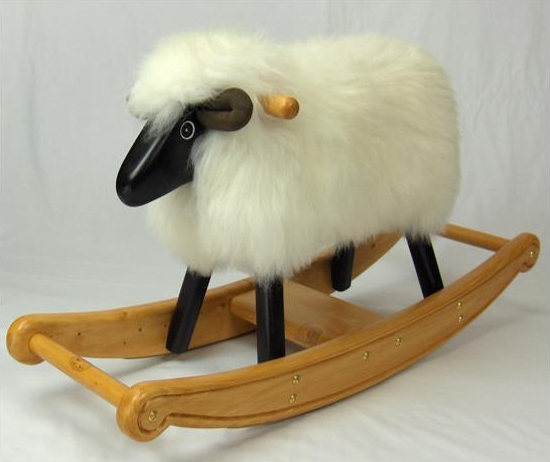Ivory Rocking Lamb - FREE SHIPPING