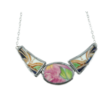 Floral Vintage China Collar Necklace
