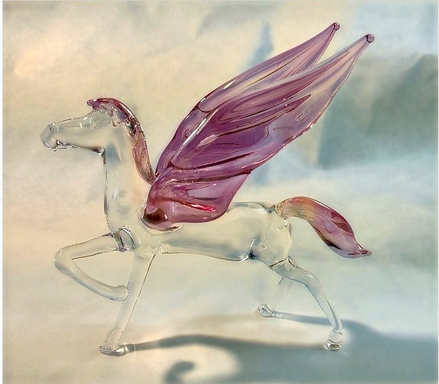 Standing Glass Pegasus