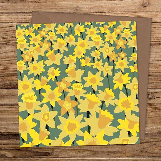 Daffodil Field Greeting Card