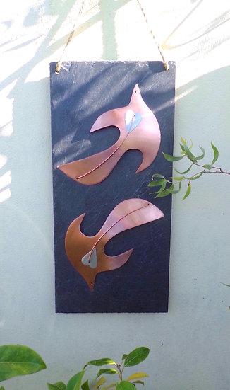 Swallow Garden Copper & Slate Plaque