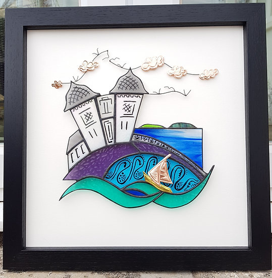 Penarth Pier & Islands Stained Glass Wall Panel