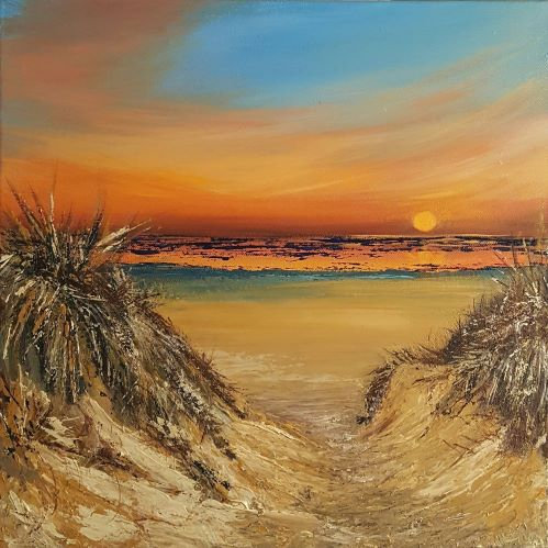 'Summers End' Original Acrylic Canvas-40x40cm