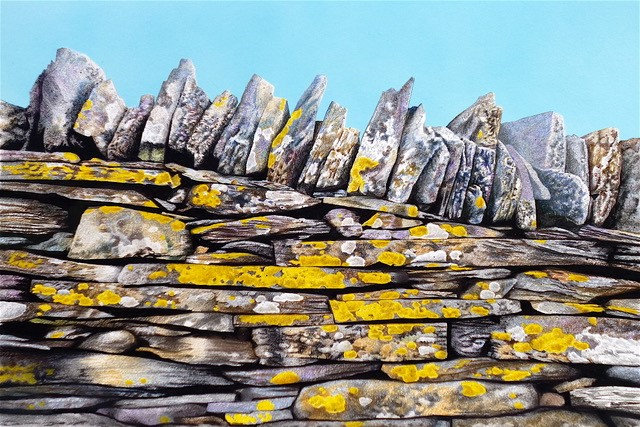 'Slate Wall with Blue Sky' Limited Edition Giclee Print