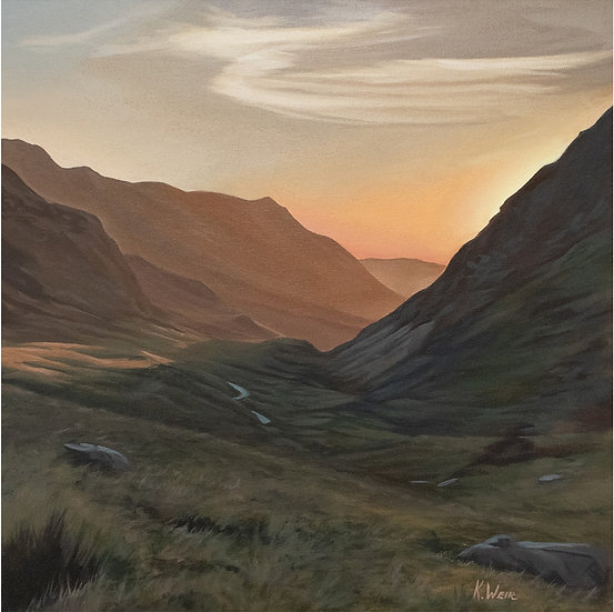 'A view from the Pyg Track', Snowdonia National Park Print