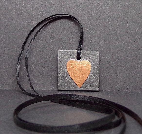 Slate & Copper Pendant