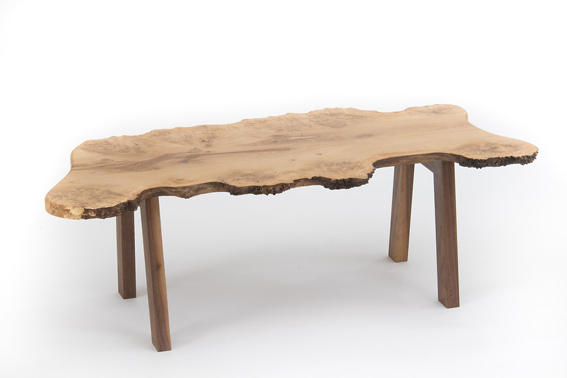 Burr Oak Live Edge Coffee Table