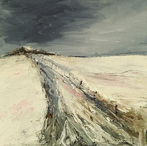 'Winters Homestead' Original Acrylic Canvas 20x20cm