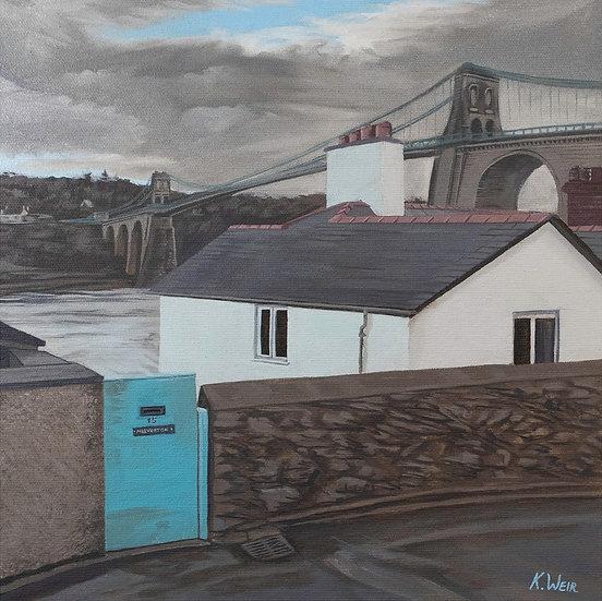'Menai Bridge from Cambria Road' Menai Bridge, Anglesey