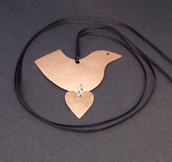 Copper Bird Pendant
