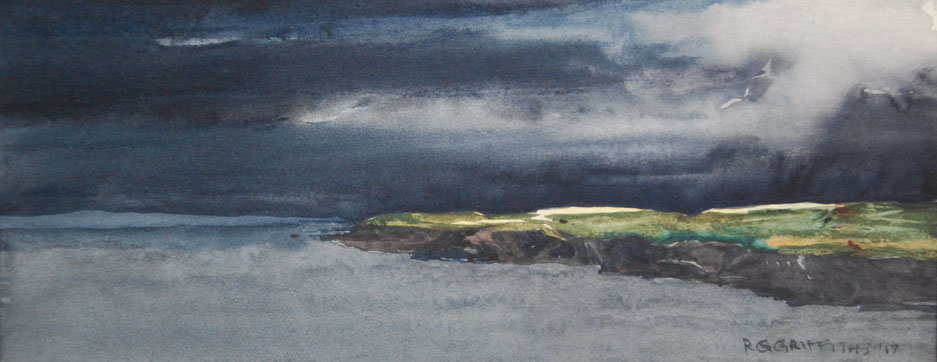 'Pembrokeshire Headland' Limited Edition  Mounted Print