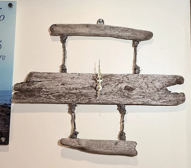 """3"" Drop Driftwood Clock"