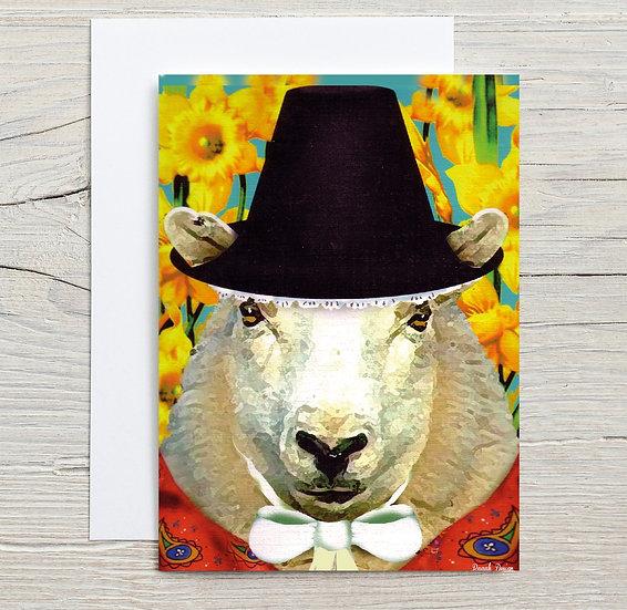 A Welsh Sheep Greeting Card
