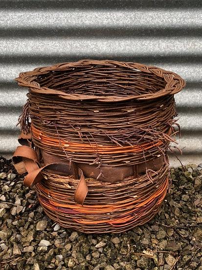 Woven Waste Wood Litter Basket
