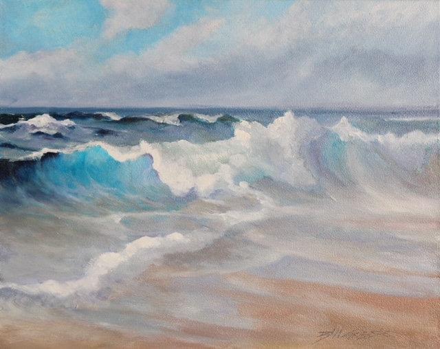 'West Shore Llandudno, Incoming Tide' Original Oil Painting