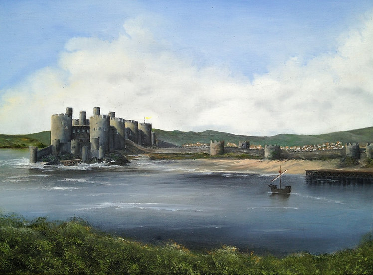 'Medieval Conwy 1287 AD' Signed Print