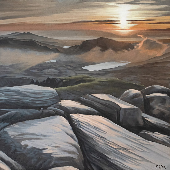 'A view from the top', Snowdon Summit Print