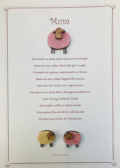 Mum Framed Poem