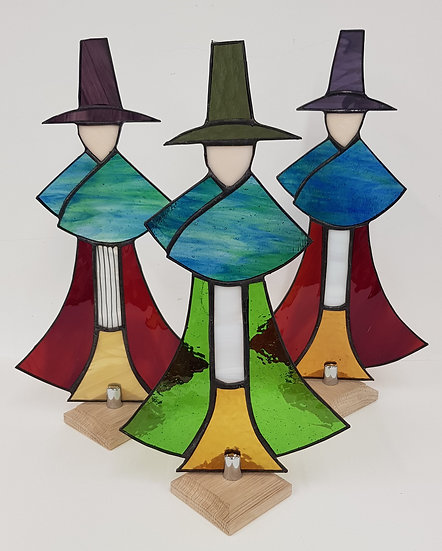 Stained Glass Welsh Lady-Small